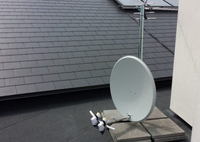 Multi Lnb Satellite Installation on Flat Roof
